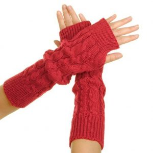 2. Eforcase Women's Crochet Long Fingerless Gloves