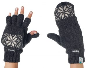 3. Alki'i 3M Thinsulate Thermal Insulation Fingerless Texting Gloves
