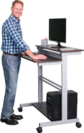10. 40 Inch Mobile Adjustable Stand up Desk
