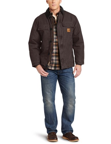 10. Carhartt Men's Arctic Quilt Lined Sandstone Traditional Coat C26