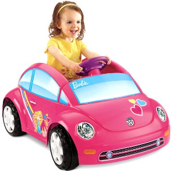 10. Fisher-Price Power Wheels Barbie Volkswagen Beetle Toy Car