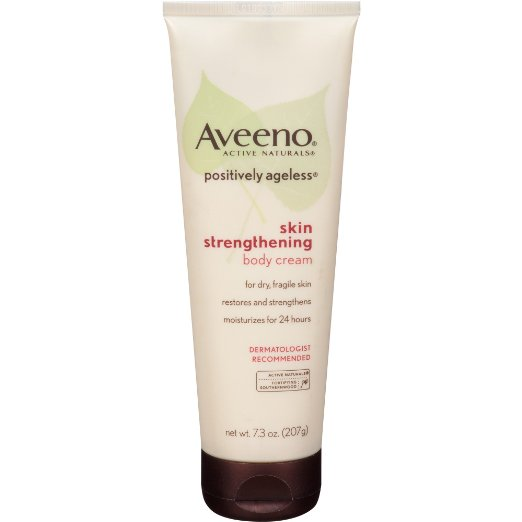 2. Aveeno Positively Ageless Skin Strengthening Body Cream