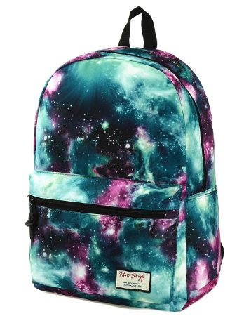 2. [HotStyle Fashion Printed] TrendyMax Galaxy Pattern School Backpack Cute for Girls