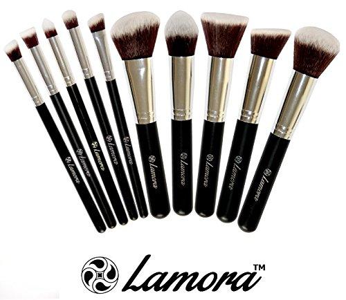 2. LAMORA Premium Kabuki Brush Set