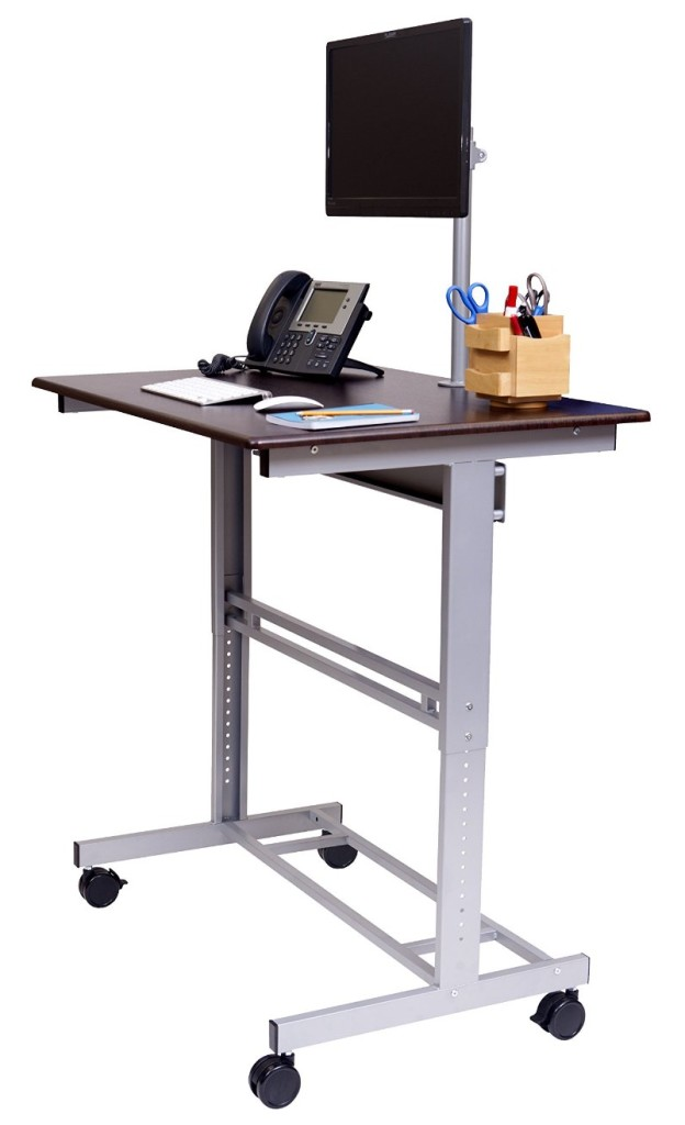 3. Stand Up Desk Store 40 Inch Mobile Multi-Shelves Stand Up Desk