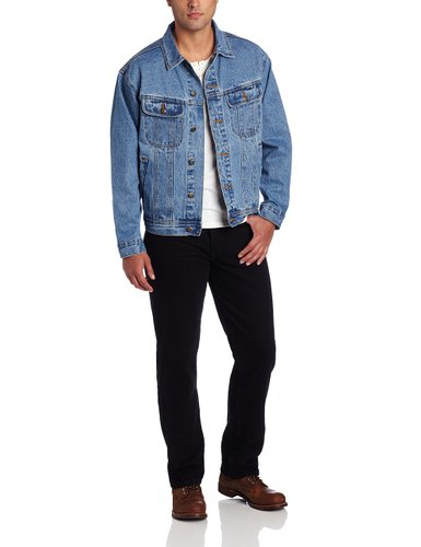3. Wrangler Men's Rugged Wear Unlined Denim Jacket