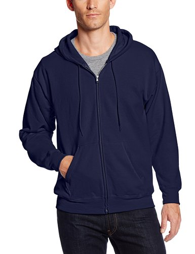 4. Hanes Men's Full-Zip EcoSmart Fleece Hoodie