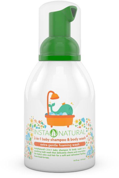 4. InstaNatural 2-in-1 Baby Shampoo & Body Wash