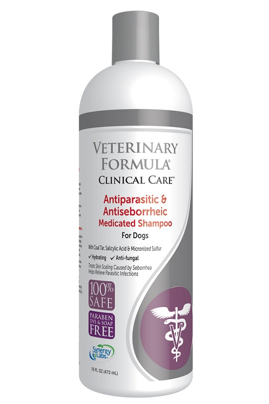 4. SynergyLabs Veterinary Formula Clinical Care Antiparasitic & Antiseborrheic Medicated Shampoo for Dogs