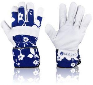 5. Zeemplify Premium Leather Gardening Gloves