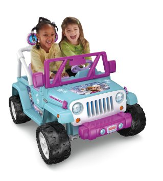 7. Power Wheels Disney Frozen Jeep Wrangler
