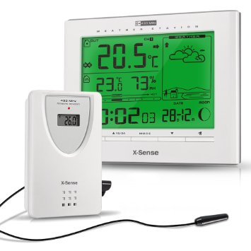 7. X-Sense Wireless Home Weather Station