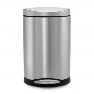 7. simplehuman Semi-Round Step Trash Can