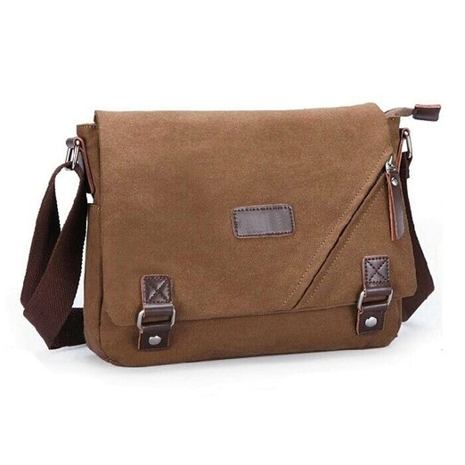 8. Ibagbar Vintage Military Cotton Canvas Messenger Bag Shoulder Crossbody Satchel Bag Bookbag Laptop Bag Working Bag for Men and Women