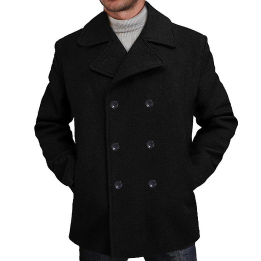 9. BGSD Men's 'Mark' Classic Wool Blend Pea Coat