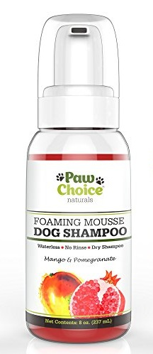9. Paw Choice Naturals Foaming Mousse Dog Shampoo