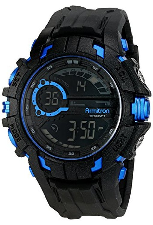 Armitron Sport Men's 408335 Digital Chronograph Resin Strap Watch