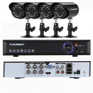 FLOUREON 4CH ONVIF 960H HDMI CCTV DVR