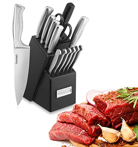 Paksh Cuisinart Wooden Kitchen Knife Block Set,