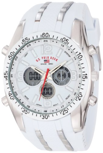 U.S. Polo Assn. Sport Men's US9282 Silver-Tone Watch