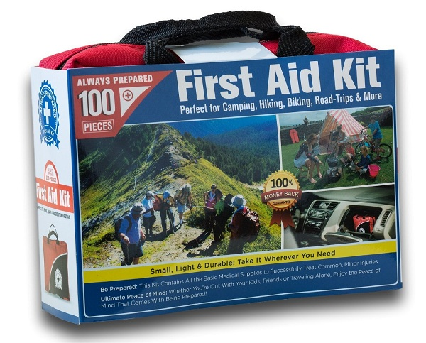 1. Small First Aid Kit 100 Piece