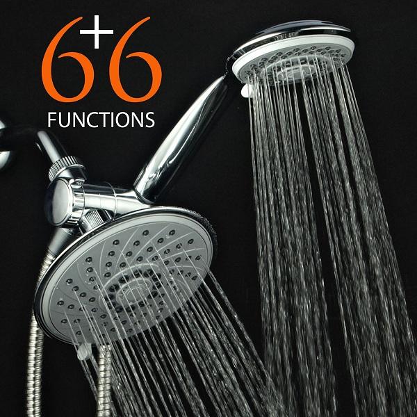 10. HotelSpa® 30-Setting Ultra-Luxury 3 Way Rainfall Showerhead Handheld Shower Combo