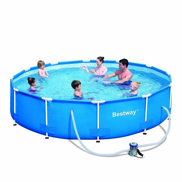 2. Bestway Round Frame Pool Set
