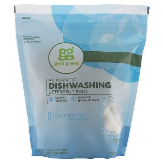 2. Grab Green Natural Automatic Dishwashing Detergent
