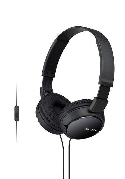 2. Sony MDRZX110AP ZX Series Extra Bass Smartphone Headset with Mic