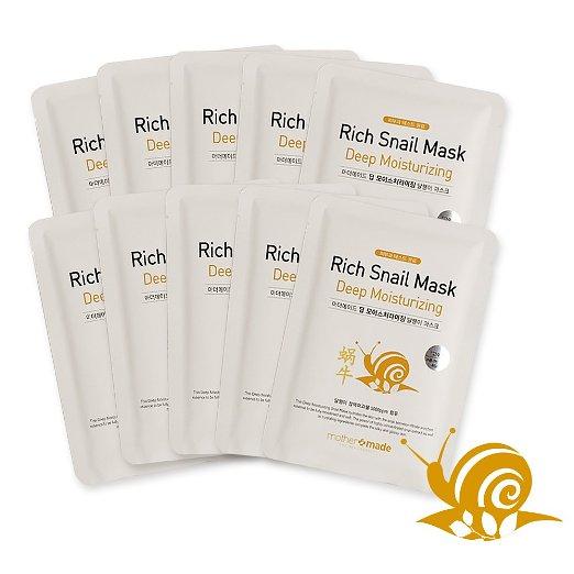 2. mothermade® Rich Snail Deep Moisturizing Facial Mask