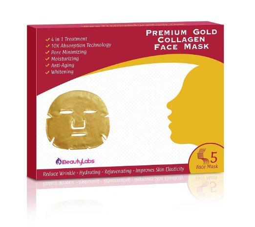 4. iBeautyLabs Premium Gold Collagen Face Mask