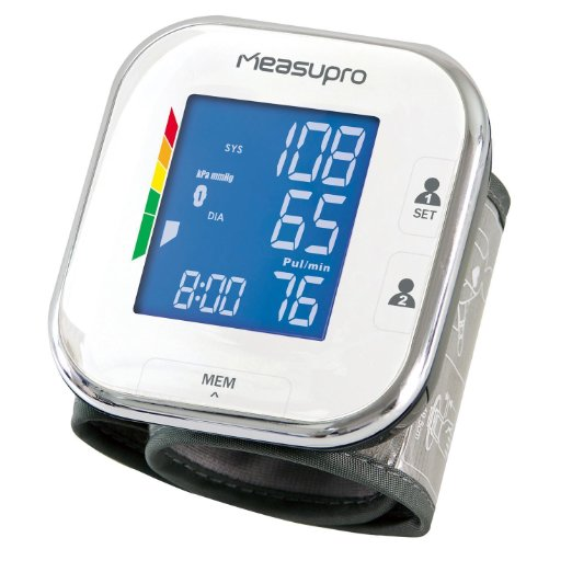 5. MeasuPro Portable Wrist Blood Pressure Monitor with Heart Rate Meter