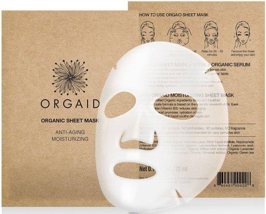 8. ORGAID Anti-aging & Moisturizing Organic Sheet Mask