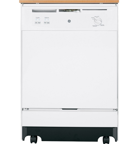 9. GE GSC3500DWW Portable Full Console Dishwasher