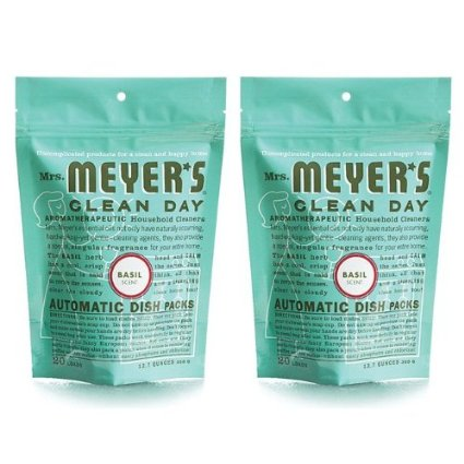 9. Mrs. Meyer's Clean Day Dishwasher Detergent Soap Packs
