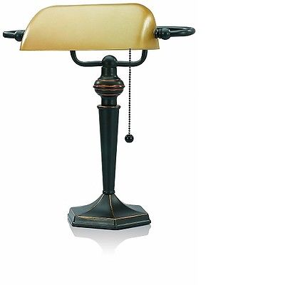 V-LIGHT Traditional Style CFL Banker's Desk Lamp