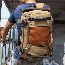 ibagbar Canvas Backpack Travel Duffel Bag Hiking Bag