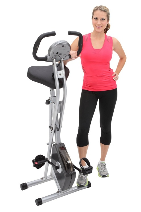 1. Exerpeutic Folding Magnetic Upright Bike with Pulse