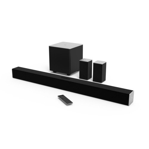 1. VIZIO SB3851-C0 Channel Sound Bar with Wireless Subwoofer and Satellite Speakers
