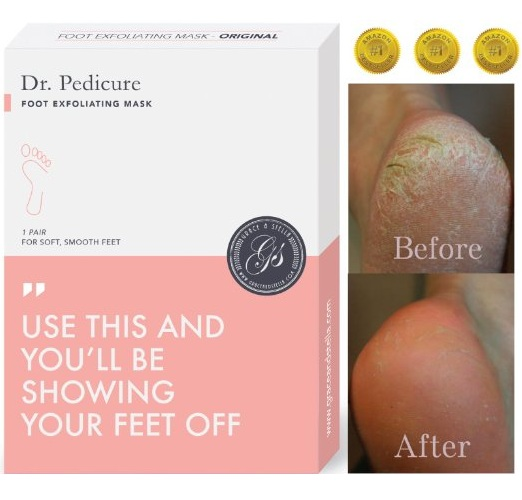 2. Dr. Pedicure Foot Exfoliating Mask by Grace & Stella®