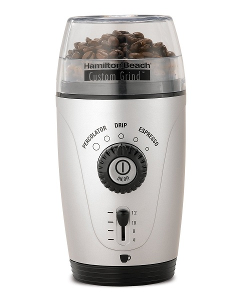 2. Hamilton Beach 80365 Custom Grind Hands-Free Coffee Grinder