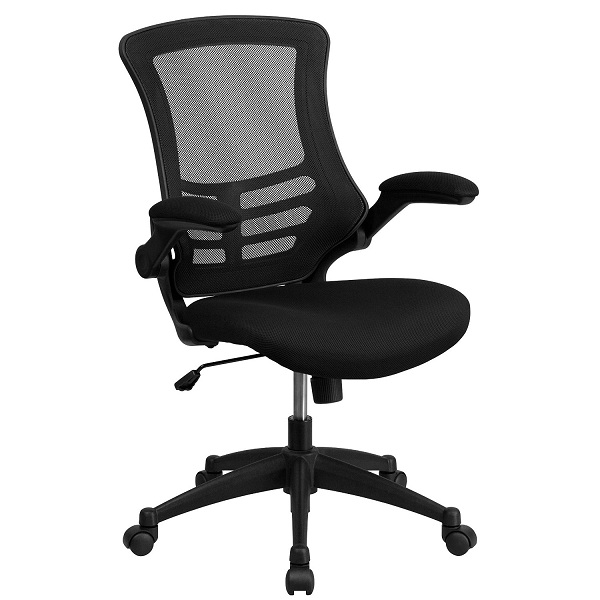 2. Mid-Back Black Mesh Swivel Task Chair
