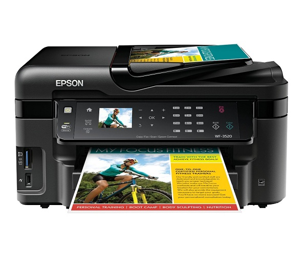 3. Epson WorkForce WF-3520 Wireless All-in-One Color Inkjet Printer
