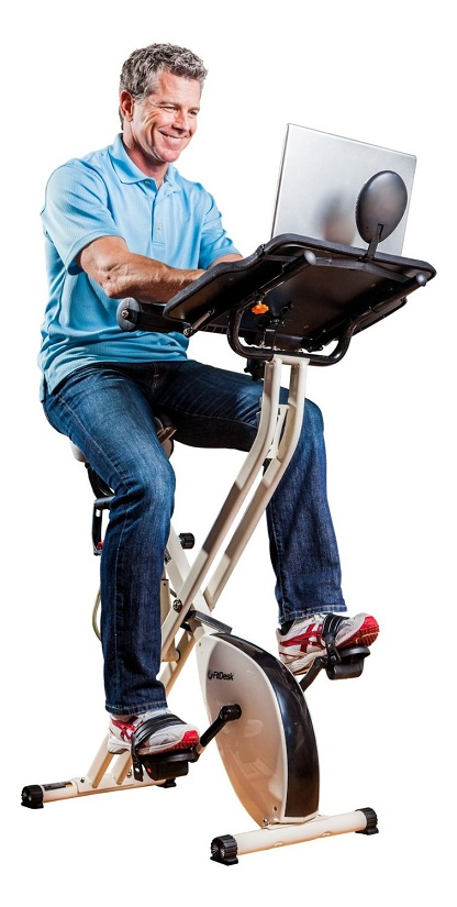 3. FitDesk v2.0 Desk Exercise Bike with Massage Bar