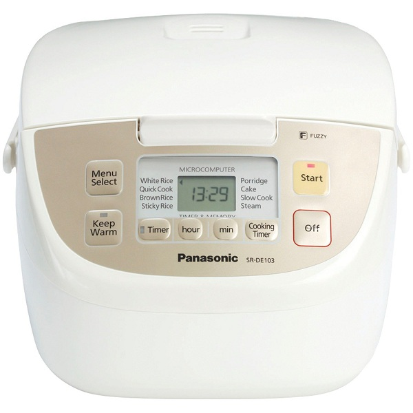 4. Panasonic SR-DE103 Fuzzy Logic 8 Pre-Program Rice Cooker
