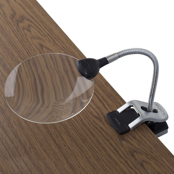 7. Ivation LED Lighted Magnifier with Flexible Helping Hand Clamps & Magnifier Inset Lens