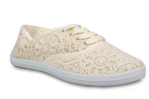 7. Twisted Women's Floral Crochet Tennis Sneaker
