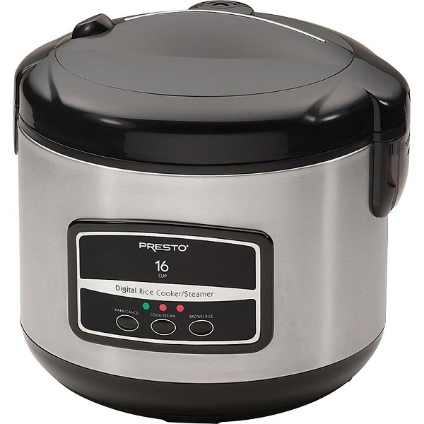 8. Presto 05813 Digital Stainless Steel Rice Cooker