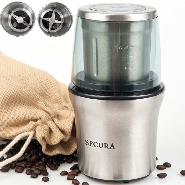 8. Secura Electric Coffee & Spice Grinder