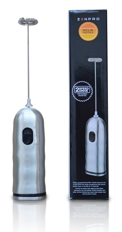 8. Zenpro Stainless Steel Milk Frother